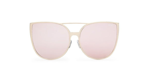 Quay Australia SORORITY PRINCESS Gold Pink Designer Sunglasses