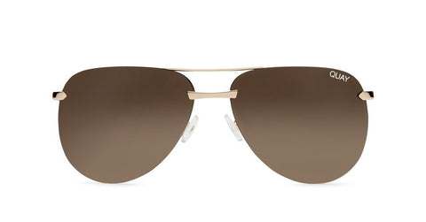 Quay Australia THE PLAYA Gold Brown Designer Sunglasses Australian Online Store One Honey Boutique AfterPay ZipPay