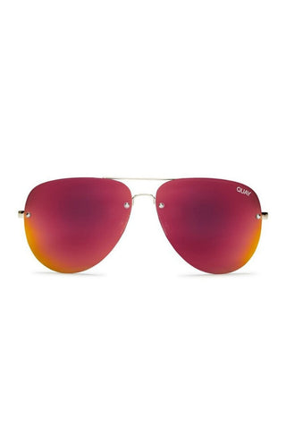 Quay Australia x Amanda Steele MUSE Gold & Red Designer Sunglasses