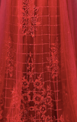 Honey Couture REBECCA Red Glitter Tulle Made To Order Formal Dress