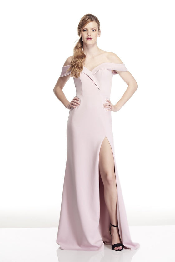 Tinaholy Couture T17115 Tea Rose Pink Off Shoulder Formal Gown DressTinaholy CoutureOne Honey Boutique AfterPay OxiPay ZipPay