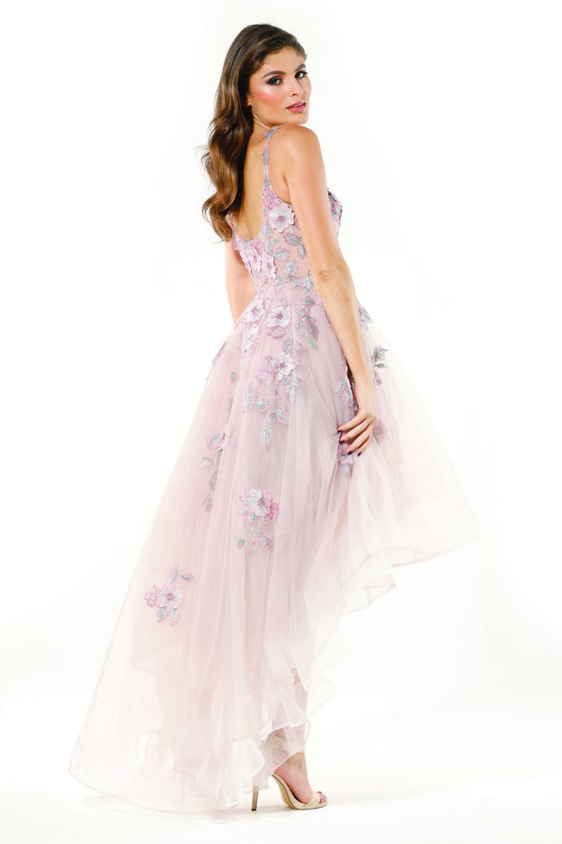 Tinaholy Couture T18115 Pastel Pink 3D Flowers Lace Tulle Formal Dress Tina Holly Couture$ AfterPay Humm ZipPay LayBuy Sezzle