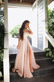 Tinaholy Couture T18262 Rose Pink Glitter Ball Gown Formal Dress Tina Holly Couture$ AfterPay Humm ZipPay LayBuy Sezzle