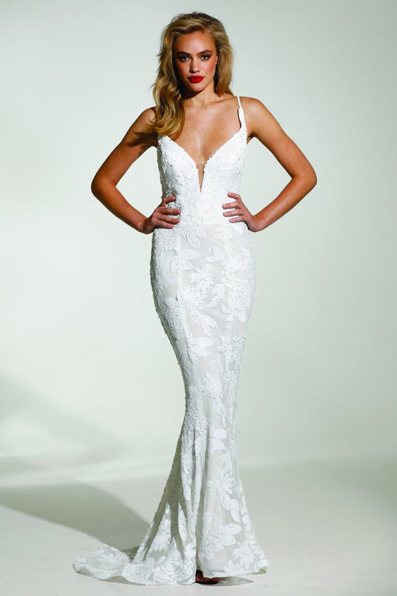 1320ab3d627 Tinaholy Couture T1834 White Sequin Mermaid Formal Prom Gown DressTinaholy  CoutureOne Honey Boutique AfterPay OxiPay ZipPay