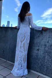 Tinaholy Couture T1866 White & Nude Off Shoulder Formal Gown Prom Dress Tina Holly Couture$ AfterPay Humm ZipPay LayBuy Sezzle