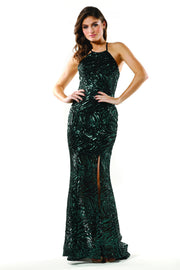 Tinaholy Couture Designer T19112 Green Sequin Formal Prom Dress Tina Holly Couture$ AfterPay Humm ZipPay LayBuy Sezzle
