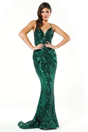 Tinaholy Couture T19280 Emerald Green Mermaid Formal Prom Dress Tina Holly Couture$ AfterPay Humm ZipPay LayBuy Sezzle