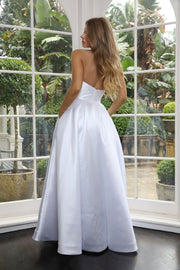 Tinaholy Couture TA611 White Strapless Ball Gown Formal Dress Tina Holly Couture$ AfterPay Humm ZipPay LayBuy Sezzle