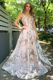Tina Holly Couture Designer TA616 Pink 3D Lace Formal Dress