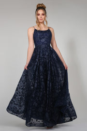 Tina Holly Couture Designer TH018 Blue Floral Ball Gown Formal Dress {vendor} AfterPay Humm ZipPay LayBuy Sezzle