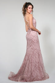 Tina Holly Couture Designer TW001 Tea Rose Pink Mermaid Formal Dress
