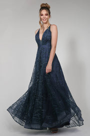 Tina Holly Couture Designer TW002 Navy Blue Sequin Formal Dress {vendor} AfterPay Humm ZipPay LayBuy Sezzle