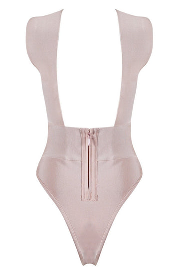 Honey Couture MALIA Blush Pink Cross Over Bandage BodysuitHoney CoutureOne Honey Boutique AfterPay OxiPay ZipPay