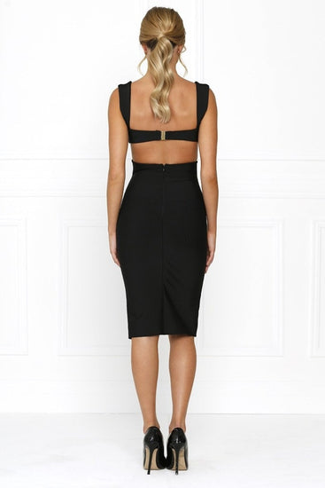 Honey Couture CARLA Designer Black Cut Out Bandage DressHoney CoutureOne Honey Boutique AfterPay OxiPay ZipPay