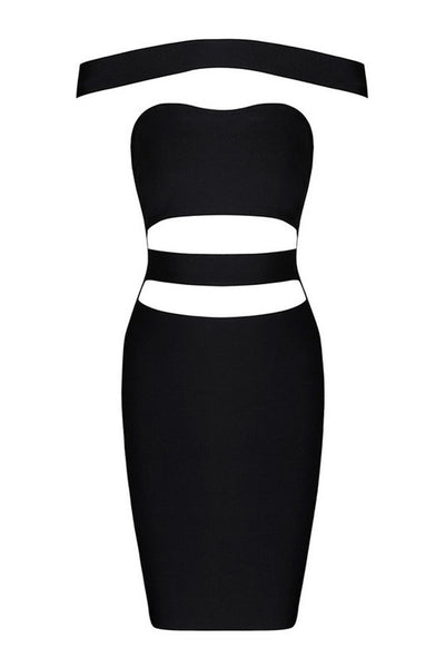 Honey Couture KYLIE Black Bandage Dress