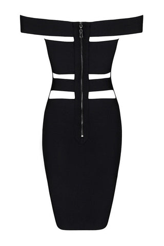 Bandage Dress - Honey Couture KYLIE Black Bandage Dress