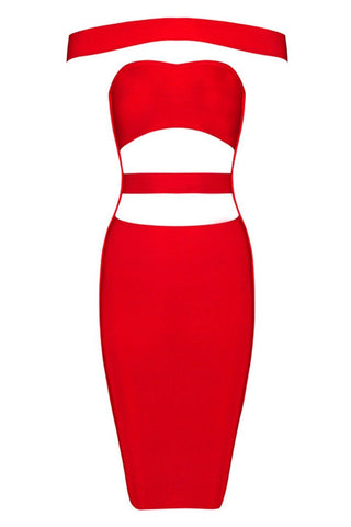 Honey Couture KYLIE Red Bandage Dress