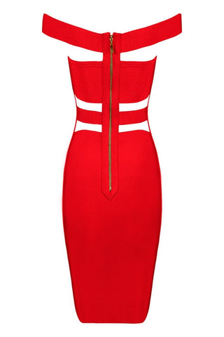 Bandage Dress - Honey Couture KYLIE Red Bandage Dress