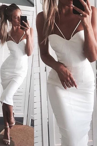 Honey Couture White Bustier Straps Midi Dress , Dress Honey Couture, One Honey Boutique  Australian Online Store - 1