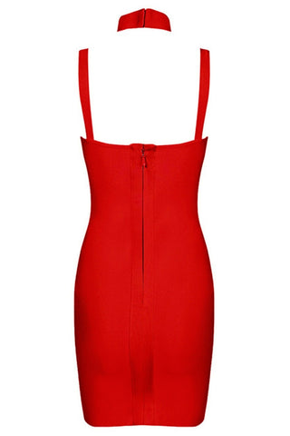 Honey Couture Red Bustier Bandage Dress , Bandage Dress - Honey Couture, One Honey Boutique  - 6