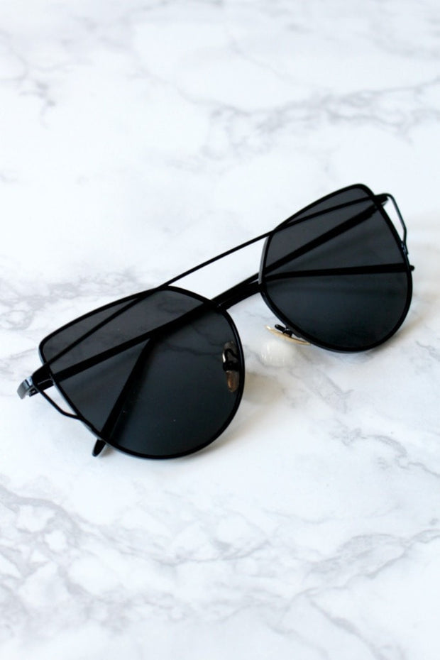 Honey Couture KOURTNEY Black on Black Sunglasses Honey Couture Sunglasses$ AfterPay Humm ZipPay LayBuy Sezzle