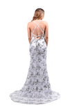 Honey Couture LUNA Glitter Overlay Mermaid Custom Made Formal Gown