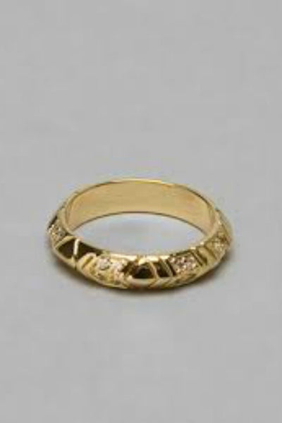 House of Harlow 1960 Slim Gold Ring