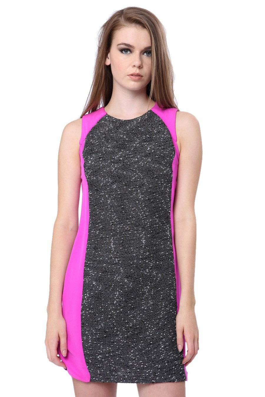 By Johnny Pink & Grey Panel Alix Shift Dress