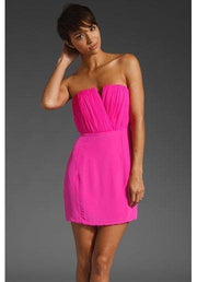 Dress - Naven Bombshell Dress W Shirring In Hot Pink
