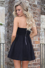 Passion Fusion Black Strapless Babydoll Bandage Party Dress
