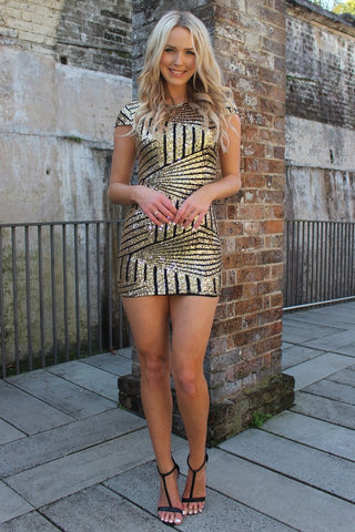 Dress - Passion Fusion Gold Sequin Perfect Party Dress