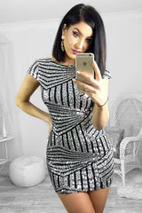 Passion Fusion Silver Sequin Perfect Party Dress