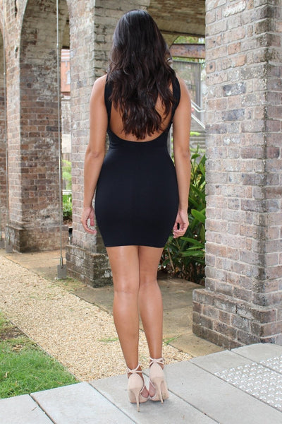 Dress - To The Club Black Bodycon Mini Dress