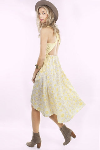 Whitney Eve THE PORT Floral Yellow Summer Dress