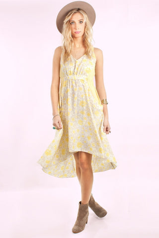 Dress - Whitney Eve THE PORT Floral Yellow Summer Dress