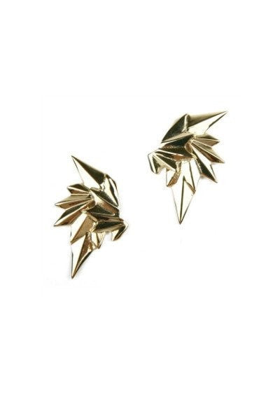 Bowie Accessories Oblivion 9KT Gold Wing Earrings