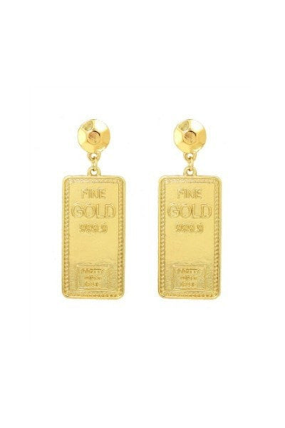 Fine GOLD 999.9 Earrings One Honey Boutique$ AfterPay Humm ZipPay LayBuy Sezzle