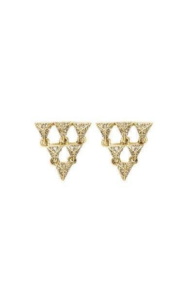 House of Harlow 1960 Gold Tambora Triangle Earrings