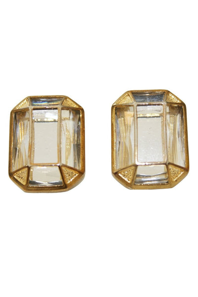 Kardashian Kollection Stone Art Deco Stud Earrings