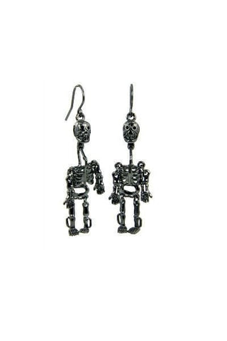 WILDFOX Couture Skull Dangle Earrings in Black