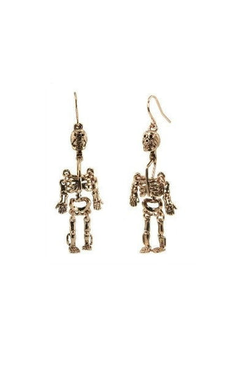 Earrings - WILDFOX Couture Skull Dangle Earrings In Rose Gold