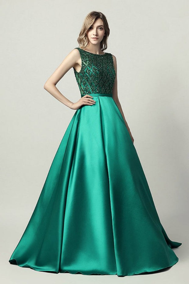 MONICE Emerald Green Beaded Ball Gown Formal Dress Private Label$ AfterPay Humm ZipPay LayBuy Sezzle