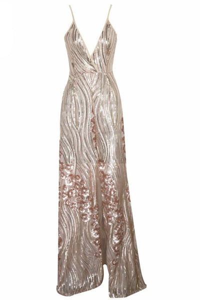 Honey Couture ALINA Gold 3D Crystal Effect Evening Gown Dress Australian Online Store One Honey Boutique AfterPay ZipPay