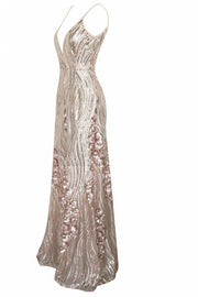 Honey Couture ALINA Gold 3D Crystal Effect Evening Gown Dress Honey Couture$ AfterPay Humm ZipPay LayBuy Sezzle