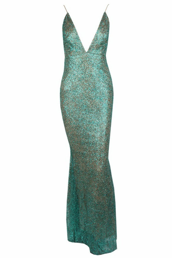 Honey Couture THESSY Green Mermaid Sequin Formal Gown DressHoney CoutureOne Honey Boutique AfterPay OxiPay ZipPay
