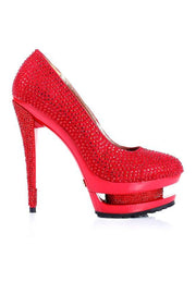 High Heels - Red Crystal Covered High Heels