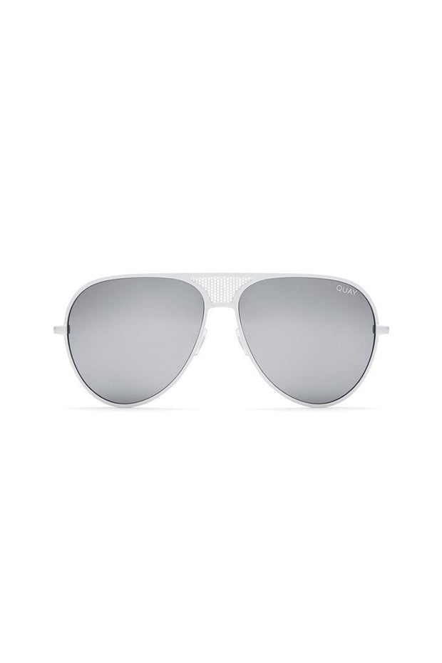 Quay Australia x Kylie Jenner ICONIC White & Silver Mirror Designer Sunglasses QUAY Australia$ AfterPay Humm ZipPay LayBuy Sezzle