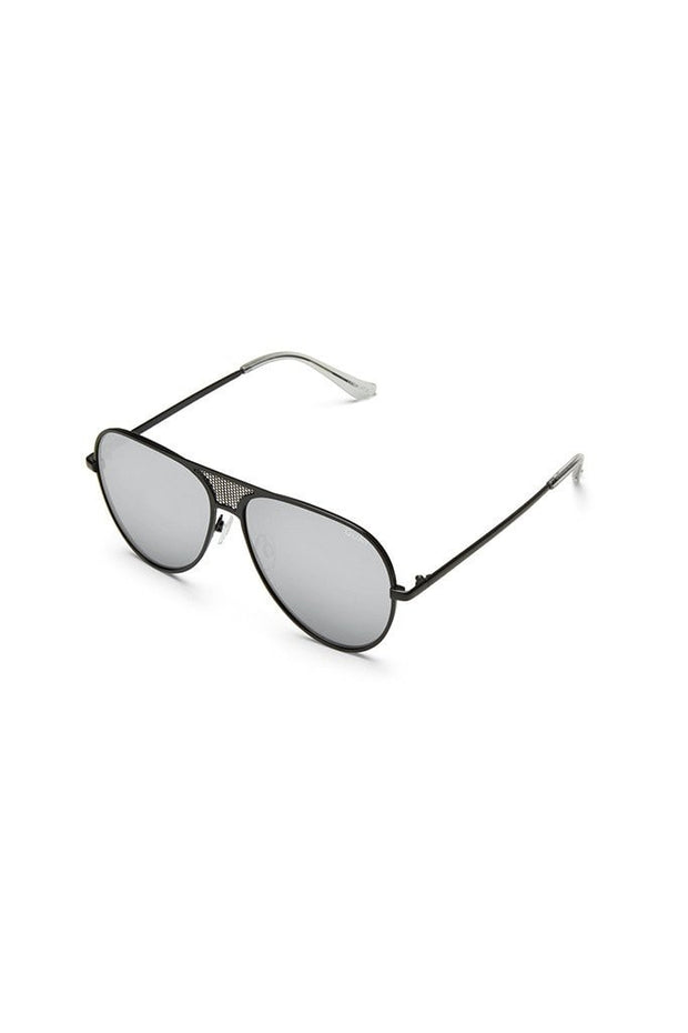 Quay Australia x Kylie Jenner ICONIC Black & Silver Mirror Designer Sunglasses QUAY Australia$ AfterPay Humm ZipPay LayBuy Sezzle