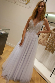 Jadore JX1077 White Crystal Tulle Formal Dress Jadore$ AfterPay Humm ZipPay LayBuy Sezzle