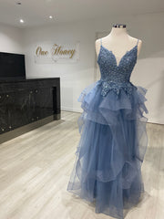 Honey Couture MEGAN Beaded Tulle Custom Made Formal Dress